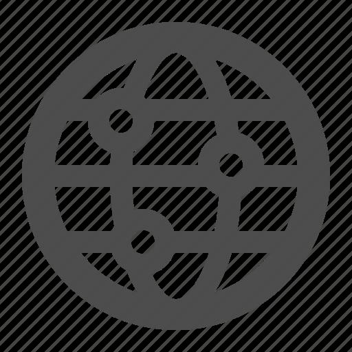 communication, globe, gps, internet, web, world wide web icon