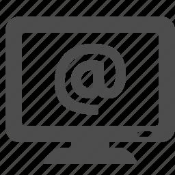 @, internet, monitor, pc, tv, web icon