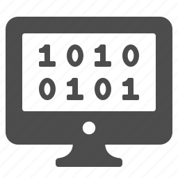 binary code, coding, internet, monitor, pc, programming, seo icon