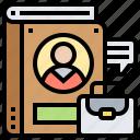 document, experiences, portfolio, qualification, work icon