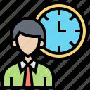 businessman, clock, management, punctuality, time