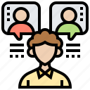 employment, interview, meeting, recruiting, team icon