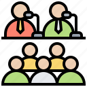 conference, professional, skill, training, workshop icon