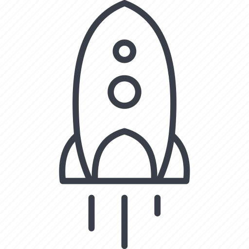 invention, rocket, space, spaceship icon
