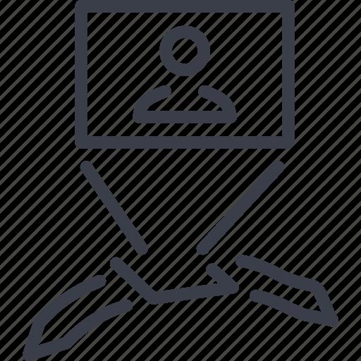 invention, monitor, television, tv icon