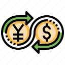 business, coins, dollar, money, yen