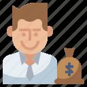 business, finance, invest, investor, money icon