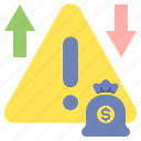 business, notification, risk, warning icon