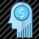 creative, investment, making money, thinking icon