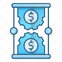 investment, making money, management, money, time icon