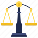 balance, court, decision, justice, law icon