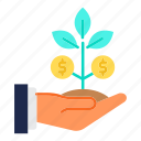business, growth, investment, plant icon