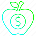 appel, healthy, investment, vegetarian icon