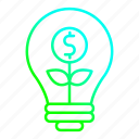 creative, idea, innovation, invest, investment icon
