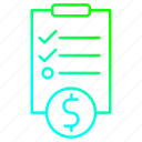 checklist, clipboard, investment, survey icon