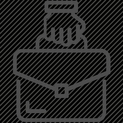 bag, business, portfolio, portfolio bag icon