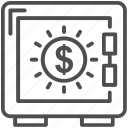 bank, banking, deposit, money save, safe, strongbox icon
