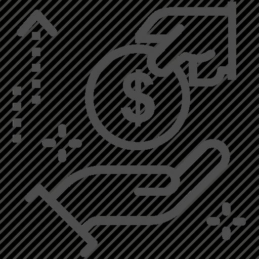 charity, dollar, donation, give, loan, money icon