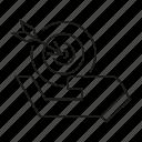 arrow, dart, goal, hand, hold, target icon