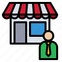 business, investment, mart, owner, shop icon