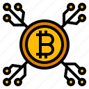 bitcoin, cryptocurrency, digital, investment, pocket icon