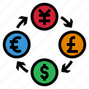 coin, currency, exchange, investment, money icon