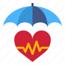 health, insurance, investment, life, protect, signal icon