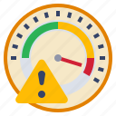 alert, guage, measure, risk, warning icon