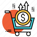 buying, currency, financial, payment, purchase, shopping, transaction icon