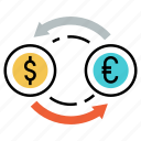 conversion, currency exchange, investment, money, trade, transfer icon