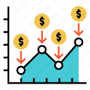 dca, dollar cost average, financial, investment, market, stock icon