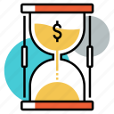 duration, financial, income, investment, long term, savings, time icon
