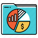 financial, folder, investment, portfolio, stock market, trade icon