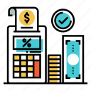accounting, calculation, economy, financial, tax, taxation, vat icon