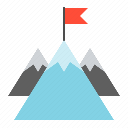 business, finance, fund, goal, investment, mountain icon