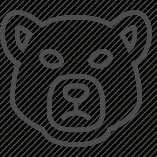 animal, bear, bear market, head, stock market icon