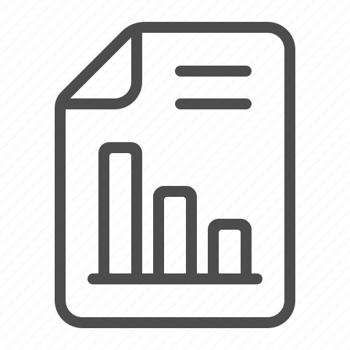 chart, document, file, graph, page, report icon
