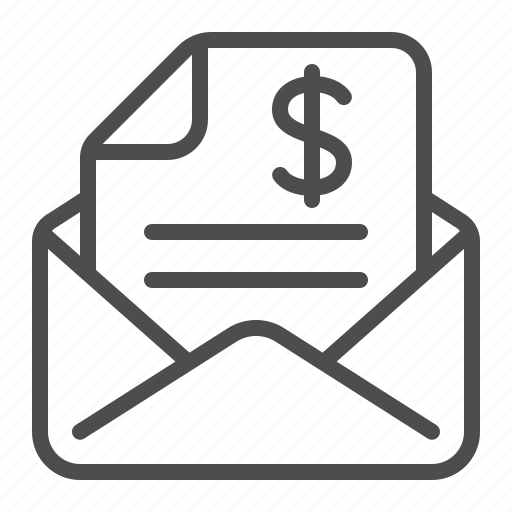 contract, document, envelope, invoice, letter, mail, tax form icon