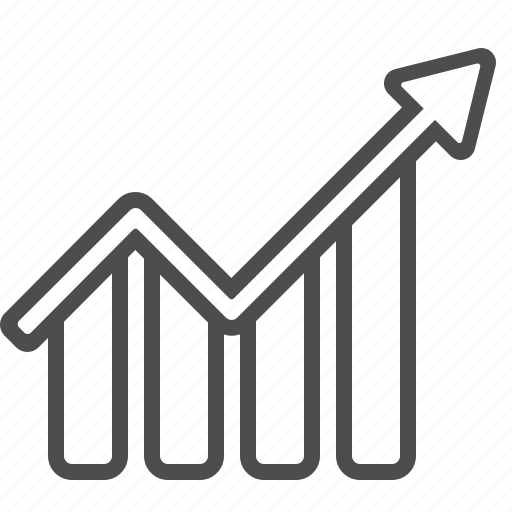 arrow, chart, graph, growth, profit, report icon