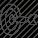 aim, bullseye, dart, objective, target icon