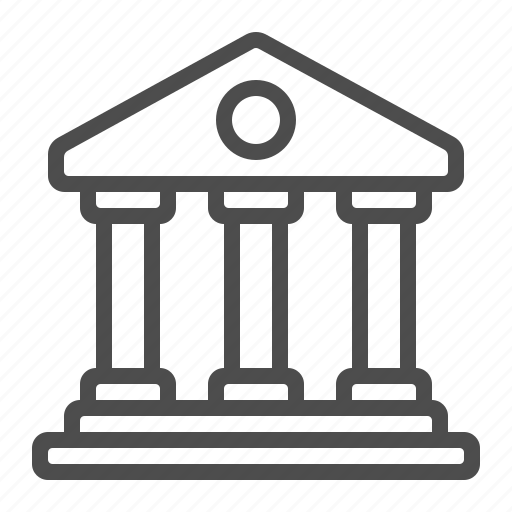 bank, building, courthouse, museum, temple icon