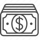 banknote, bill, cash, dollar, money icon
