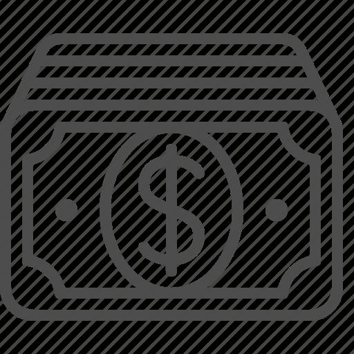 banknote, bill, cash, dollar, money icon