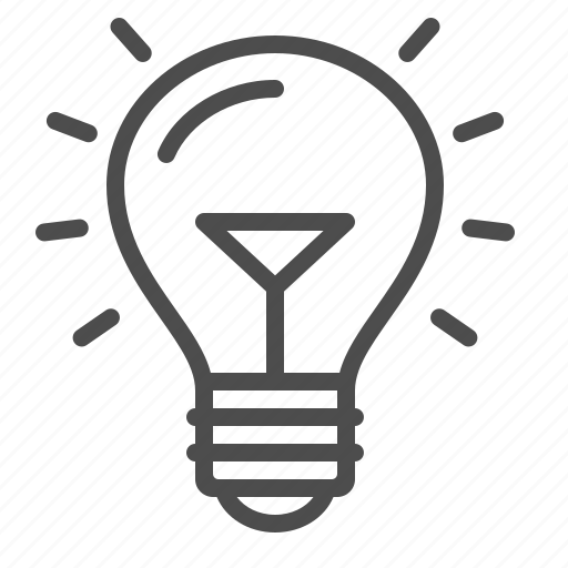 electricity, idea, light bulb icon