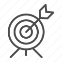 aim, archery, arrow, bullseye, target icon