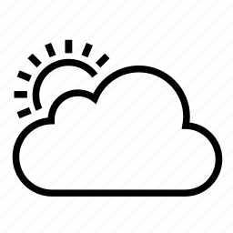 cloud, day, ios9, sun, sunny day, weather icon