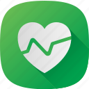 green, health, heart, pulse icon