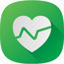 green, health, heart, pulse icon