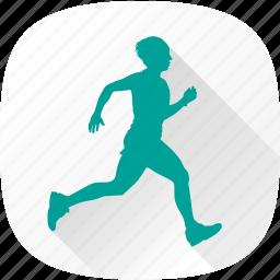 man, men, running, sport icon