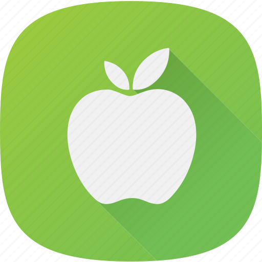 apple, fitness, green icon